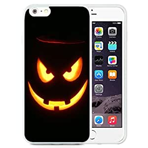 Unique and Attractive TPU Cell Phone Case Design with Halloween Evil Jack O Lantern iPhone 6 plus 4.7 inch Wallpaper in White