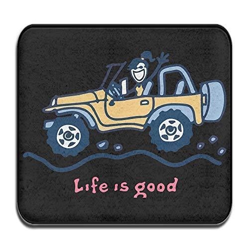 SWEET TANG Front Welcome Entrance Doormat, Jeep Life Is Good Door Mat for Indoor/Outdoor, Entry, Garage, Patio, High Traffic Areas, Shoe rugs. ()