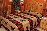 Rustic Ranch Style Bed Spread -Zia Horses Queen