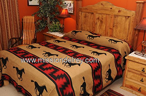 Mission Del Rey's Western Bedding Collection - Zia Running Horses Twin 68