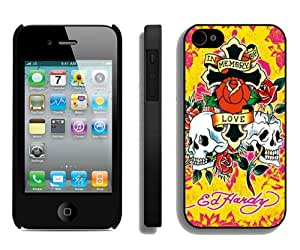 Fashionable And Unique Designed Case For iPhone 4S With Ed Hardy 21 Black Phone Case
