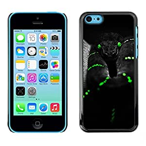 All Phone Most Case / Hard PC Metal piece Shell Slim Cover Protective Case for Apple Iphone 5C Black Mamba Snake Green Reptile Venom