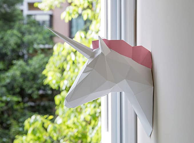 ZYWX Bricolaje Unicornio Animal Papel Molde 3D Hecho A Mano Decoración De Origami Artesanía: Amazon.es: Hogar