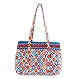Quilted Cotton Large Tote Bag Shopping Bag Travel Bag (Ice Cream)