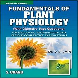 plant physiology exam key