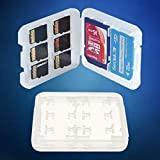 8 Slot SD/Micro SD Memory Card Case. Clear Plastic Micro SD & SD Card Holder. Hard Wallet.