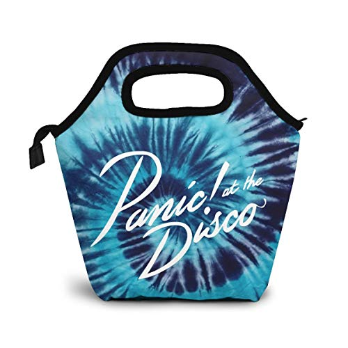 Hot New Custom Panic At The Disco Insulated Lunch Container Picnic Box Lunch Bag