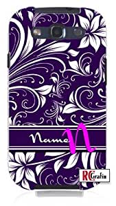 Cool Painting Women's Personalized Custom DIY Floral Monogram Initial Name Unique Quality Hard Snap On Case for Samsung Galaxy S4 I9500 - White Case