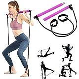 ShaggyDogz Portable Pilates Bar Kit with Resistance Band Gym Equipment Yoga Exercise Pilates Bar with Foot Loop Toning Bar Yo