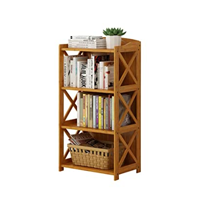 amazon com zhirong 3 layers bamboo bookshelf floor standing shelves rh amazon com floor standing glass shelves floor standing display shelves