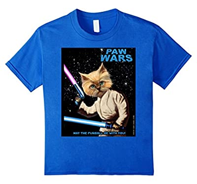 PAW WARS - Cat's Funny T-Shirt by OZO