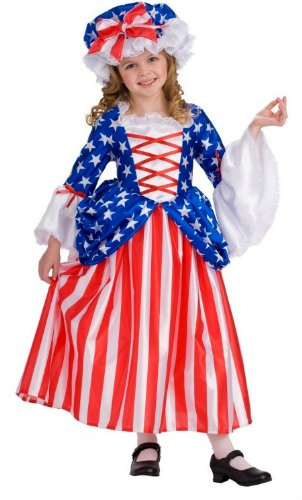 Rubie's Child's Deluxe Betsy Ross Costume, Small Betsy Ross Flag Girls