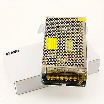 Amazon.com: AVAWO® 12V 10A DC 120W Switching Power Supply ...