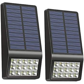 Solar Lights Outdoor - XINREE 15 LED Solar Powered Lights