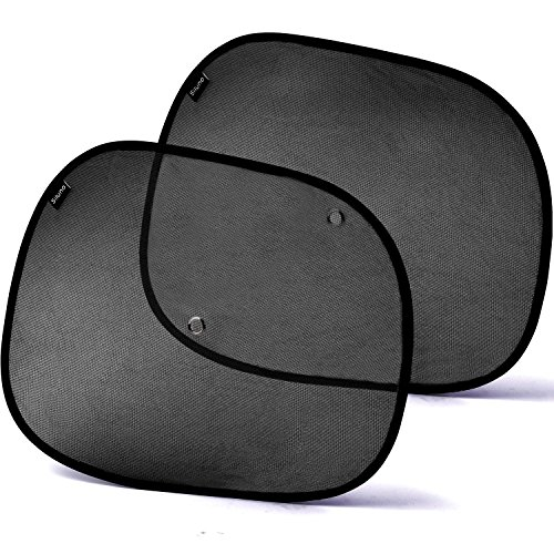 Sonnenschutz - SILUNO Sonnenblende für Auto Seitenfenster Dachfenster - Autosonnenschutz mit Saugnäpfen für Kinder Baby Erwachsene - Sonnenblenden Sonnenschutzblende Schwarz UV - mit 2 Jahren Zufriedenheitsgarantie
