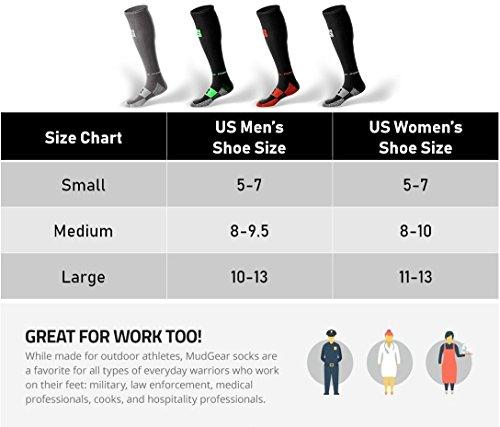 MudGear Premium Compression Socks - Mens & Womens running hiking trail (1 Pair) by MudGear (Image #3)