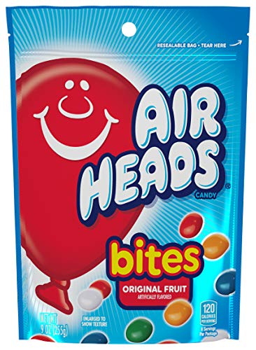 AirHeads Bites, Stand Up Bag, Fruit, Party, 9 Ounce (Bulk Pack of 12) ()