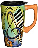 Spoontiques Music Travel Mug, Multi Colored