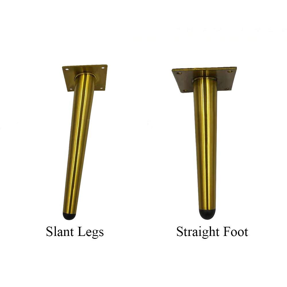 15 cm armarios Yzki Muebles 12 cm 12 cm 20 cm Patas de Metal mesas escritorios Patas de Muebles Accesorios para el hogar Oblique Legs Patas de Acero Inoxidable para Armario