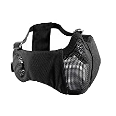 OneTigris Airsoft Foldable Mesh Mask with Ear ProtectionWhy choose OneTigris Foldable Mesh Mask?Another one of our Airsoft series half-face mesh mask offering excellent ventilation and protection during game play, only this one has additional...