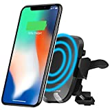 Wireless Car Charger Mount, Gixvdcu Qi Charger Car Mount with Air Vent Phone Holder, Fast Charge for Samsung Galaxy S8, S7/S7 Edge, Note 8 5, Standard Charging for iPhone X, 8/8 Plus
