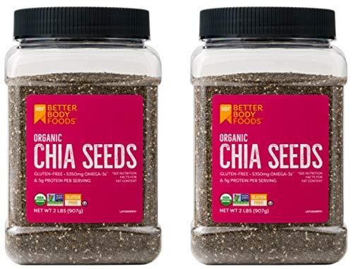 Alimentos Semillas de Chia Orgánica con Omega-3, sin OMG (2 ...