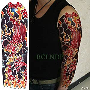 Tatuaje impermeable apliques brazo completo cuerpo arte tatuaje ...