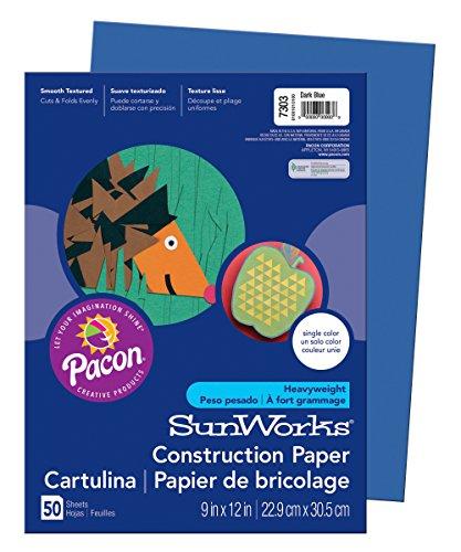 Dark Blue Construction Paper - Pacon SunWorks Construction Paper, 9