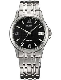 Womens 33.2mm Steel Bracelet & Case Quartz Black Dial Analog Watch FUNF5003B0