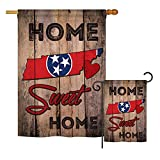 Ornament Collection S191143-BO State Tennessee Home Sweet Home Americana States Impressions Decorative Vertical House 28″ X 40″ Garden 13″ X 18.5″ Double Sided Flags Set Printed in USA Multi-Color For Sale
