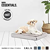 Dog Crate Mattress Pad BarkBox Small Gray Ultra Plush Orthopedic Memory Foam Dog Bed or Crate/Kennel Mat | Removable Washable Cover - Free Surprise!