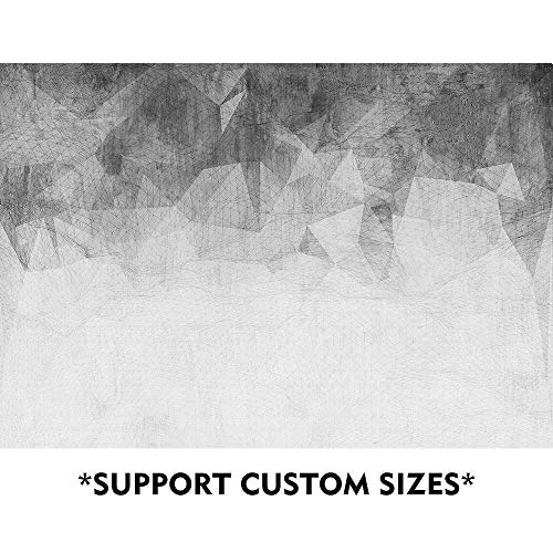 SUMGAR Black and White Custom Wallpaper Self Adhesive Grey Modern Wall Murals for Office,100x144 inches