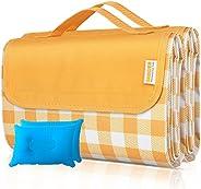 SAMSIER Waterproof Picnic Blankets & Beach Blankets Sandproof & Outdoor Blankets Foldable Portable, 60
