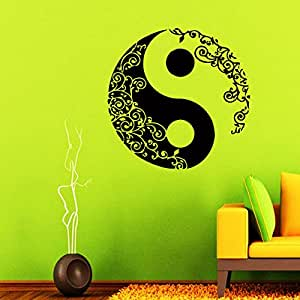 Wall decals mandala yin yang decal vinyl sticker home for Decoration murale yin yang