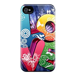 Waterdrop Snap-on 3d Love Cases For Iphone 4/4s