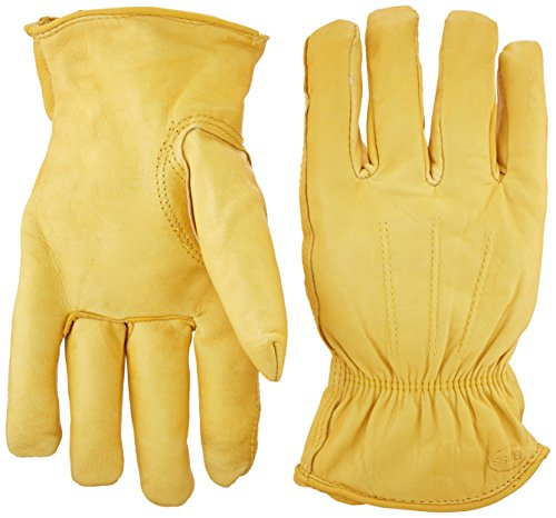 Boss Gloves 6133J Cotton Thermal Grain Cowhide Leather Driver, Jumbo -