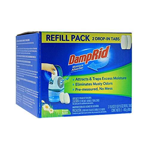DampRid Fresh Scent Drop-in Tab Refill – 2 Pack – 15.8 Oz. Refill Tabs – Moisture Absorber