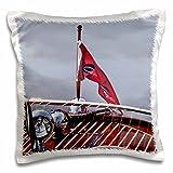 3dRose USA, Washington. Boat at The Bainbridge Island Wooden Boat Festival.-Pillow Case, 16 by 16