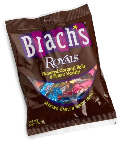 Brach's Royal Flavored Caramels, 8-Ounce Bags, Pack of