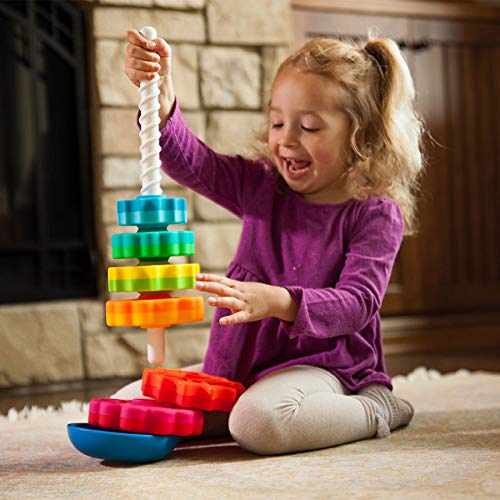 Choice Stack Ring - Fat Brain Toys Kids Spinagain Toy