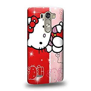 Case88 Premium Designs Hello Kitty Collection 0627 Protective Snap-on Hard Back Case Cover for LG G3