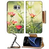 Liili Premium Samsung Galaxy S7 Flip Pu Leather Wallet Case Common Purslane or Verdolaga or Pigweed or Little Hogweed or Pusley flower in the garden vintage 28960989
