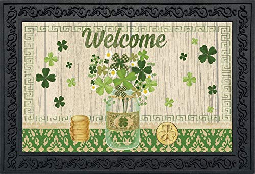 Briarwood Lane Lucky Clovers St. Patrick's Day Doormat Shamrocks Indoor Outdoor 18