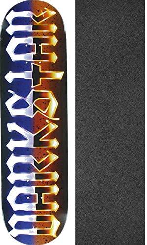 降臨かんたんベールDarkstarスケートボードクロームSLオレンジ/パープルスケートボードDeck – 8.25