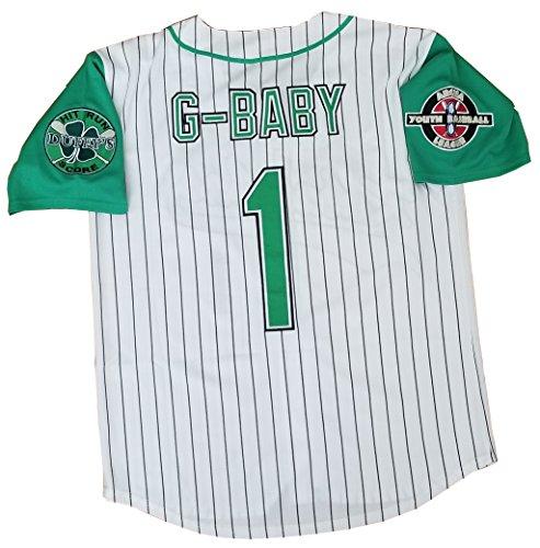 Amazon.com  Kooy G-Baby Jarius Evans  1 Kekambas Hardball Baseball Jersey  Movie Men  Clothing 2dd4486302
