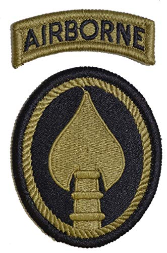 (Special Operations Command (US Army Element) with Airborne Tab - OCP Patch with Hook Fastener)