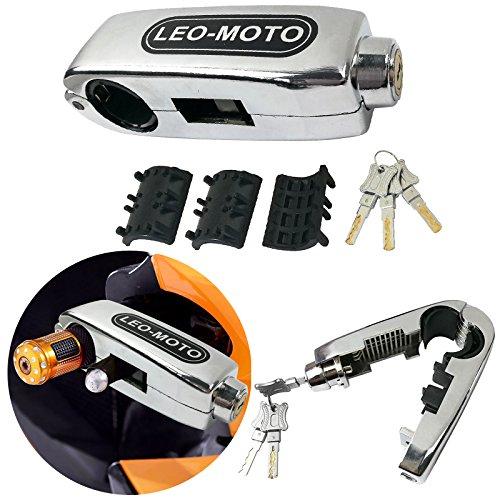 FD-MOTO 10mm*1.8m Motorbike Heavy Duty Chain Lock PadLock 110db Alarm Disc Lock Black Motorcycle Handlebar Throttle Grip Lock