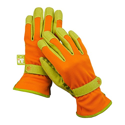 Cheap Dig It Handwear Innovative Utility Garden Gloves with Nail Protection, X-Large, Burnt Orange free shipping