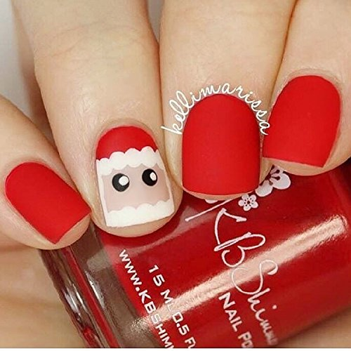 24pcs 12 Different Size Cute Rhinestone Decorated Solid Red Matte Short Square Full Cover False Nails with Design (Cute Halloween Nail Designs For Short Nails)