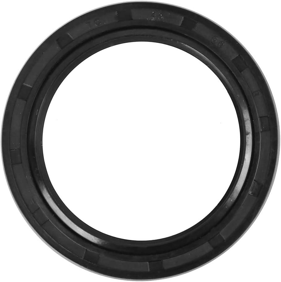 X AUTOHAUX 45mm X 60mm X 8mm Rubber Cover Double Lip TC Oil Shaft Seal for Car
